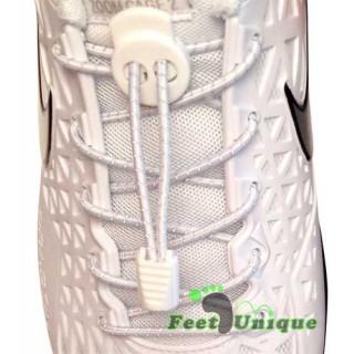 Reflective lock white shoelaces