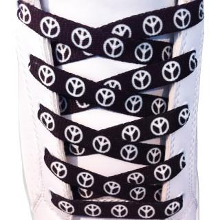 Black peace shoelaces