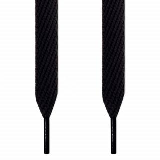 Extra wide black shoelaces
