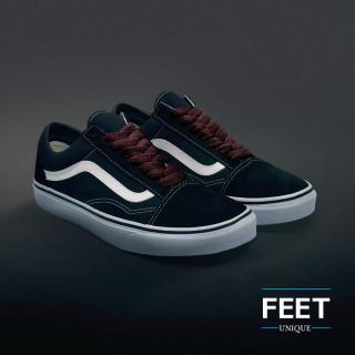 Extra wide dark brown shoelaces