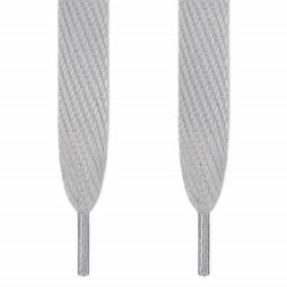 Super wide light grey shoelaces