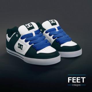 Super wide blue shoelaces