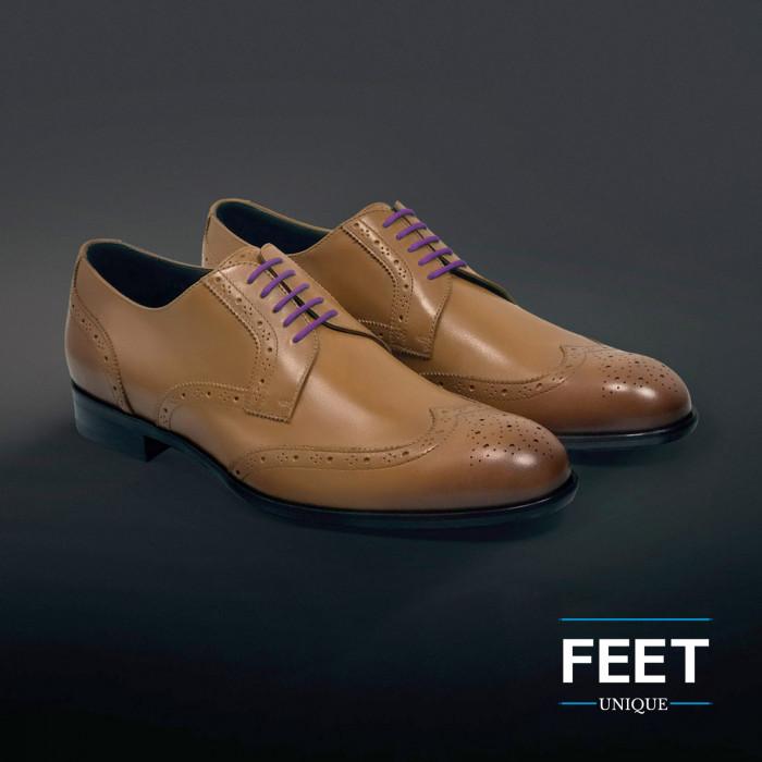 round purple dress shoelaces