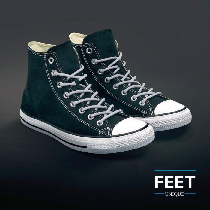 Round light grey shoelaces