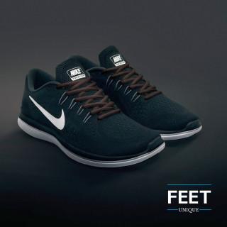 Oval dark brown shoelaces