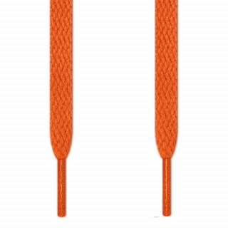 Flat orange shoelaces